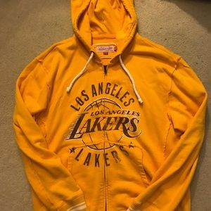 Mitchell & Ness Los Angeles Lakers Zip Hoodie (M)